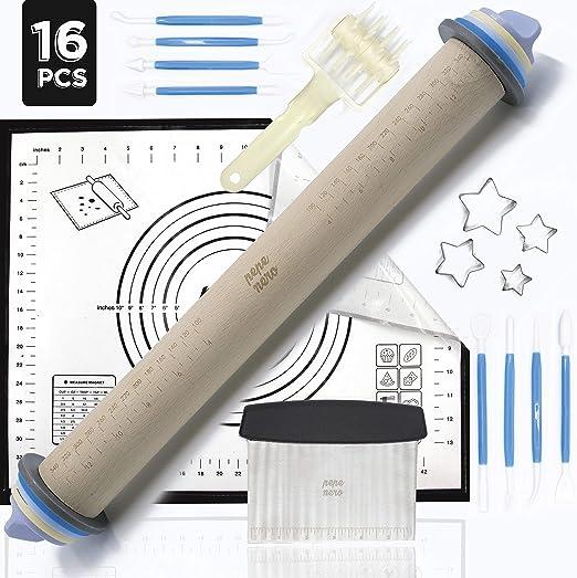 Amazon.com: Rodillo ajustable para hornear, de silicona ...