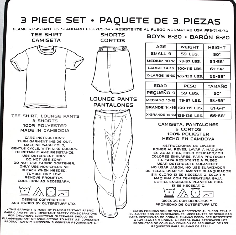 Amazon.com: Notre Dame Youth Shorts, T-shirt & Lounge Pants 3-piece Set (X-large (18-20)): Clothing
