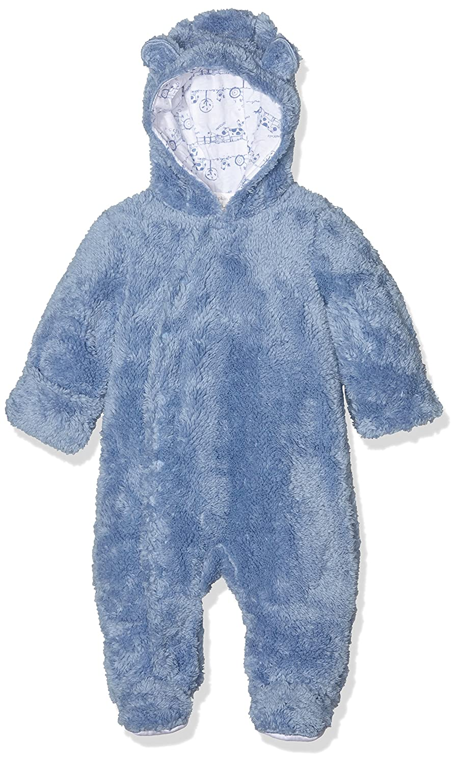 Pumpkin Patch Baby Boys' Furry All in One Footies Blue (Allure) 3-6 Months W6BN20002