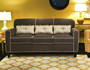 Chelsea Home Furniture Ally Apartment Size Sofa, Heavenly Mocha