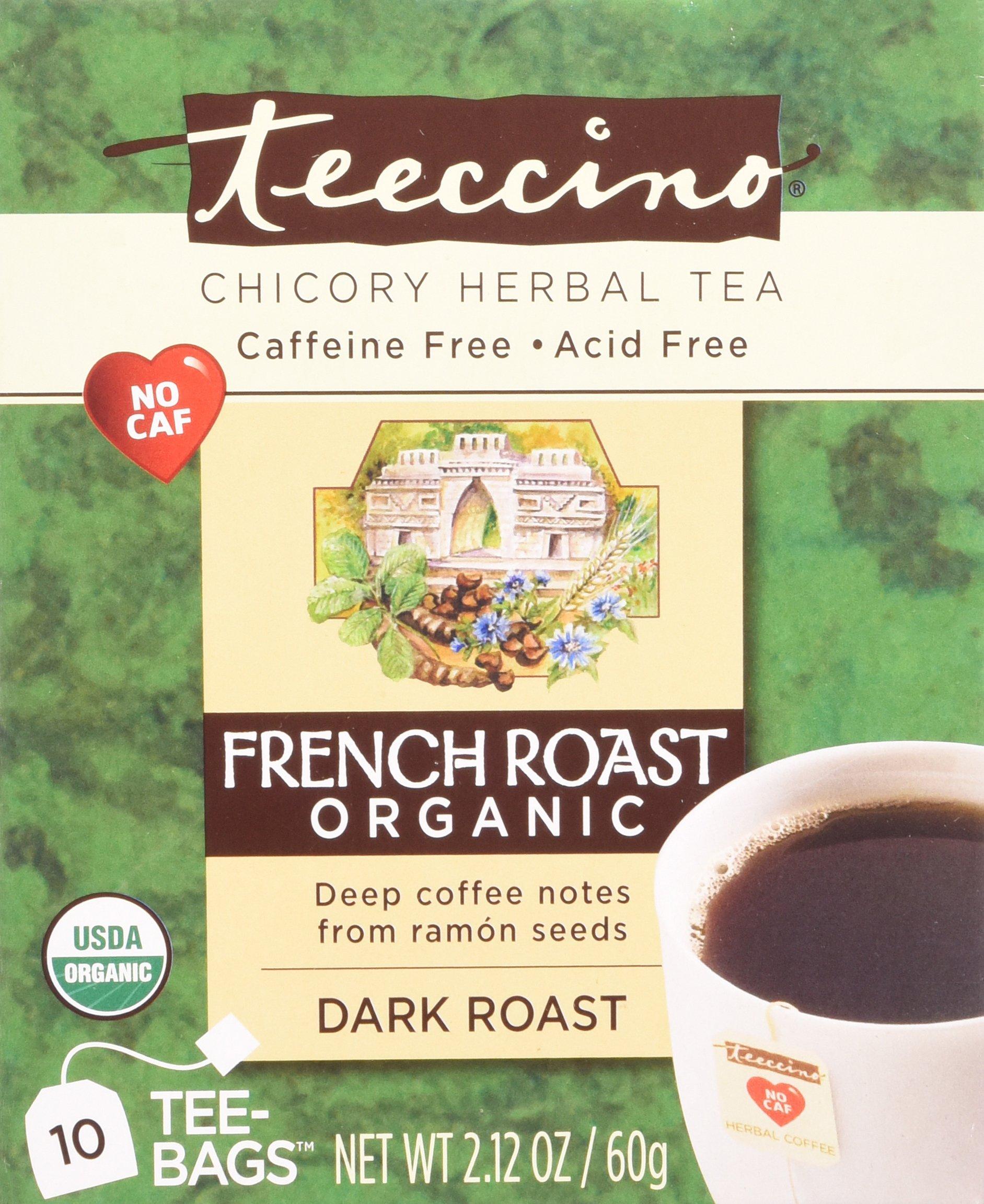 Teeccino Herbal Coffee Herbal Coffee Tee-Bags French Roast 10 Bags 1--Pack
