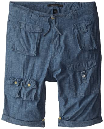 0713b1d77c Sean John Men's Big and Tall Classic Flight Short, Indigo Chambray, ...