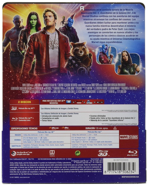 Amazon.com: Guardians of the Galaxy Vol. 2 (GUARDIANES GALAXIA VOL.2 - BLU RAY 3D - ED.METALICA, Importé dEspagne, langues sur les détails): Movies & TV