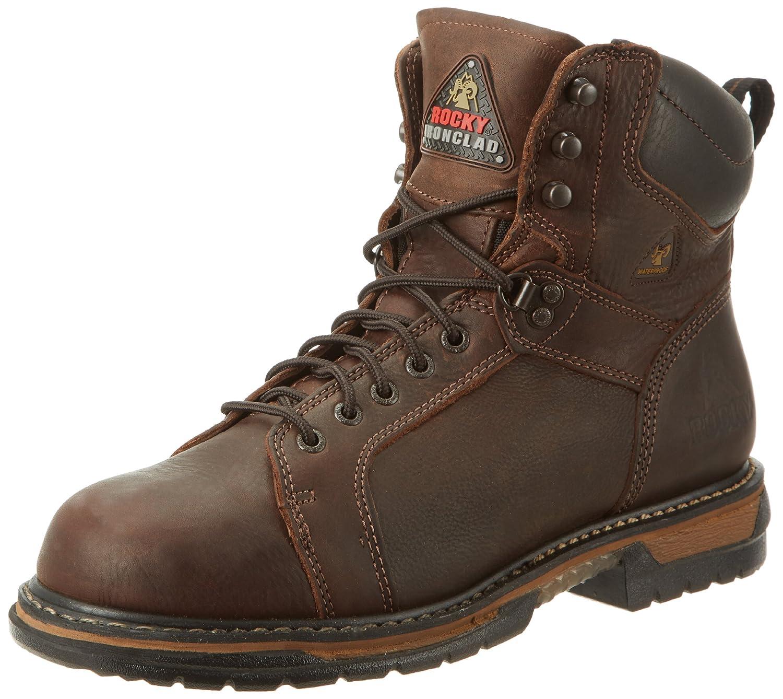 ロッキーMen 's Iron Clad SixインチLTT Work Boot B00131LIZG 14 D(M) US|ブラウン ブラウン 14 D(M) US