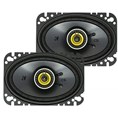 KICKER CS Series CSC46 4 x 6 Inch Car Audio System Speaker, Yellow (2 Pack): Automotive