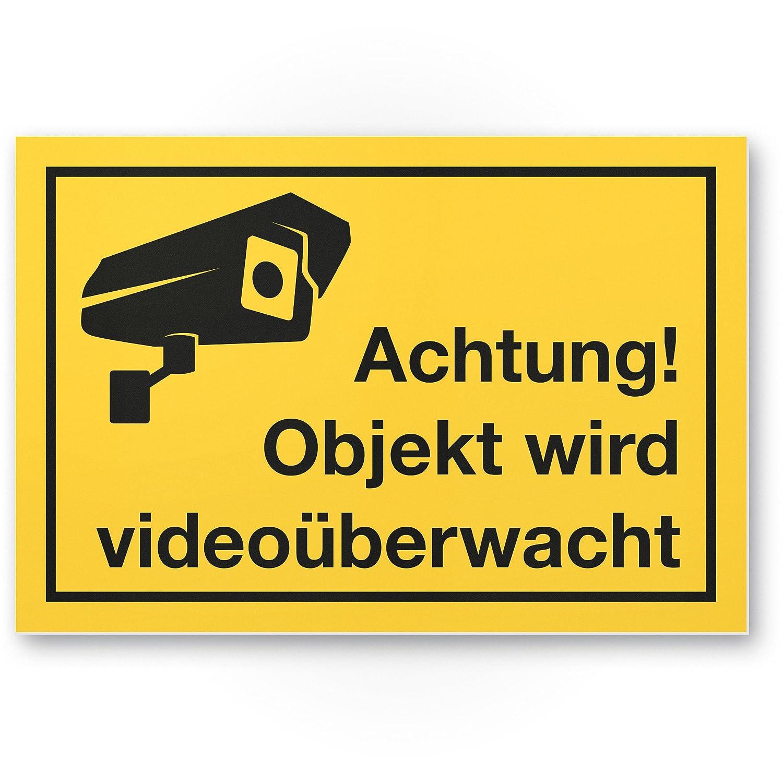 Objeto vídeo mediante wacht Cartel (Amarillo, 30 x 20 cm ...