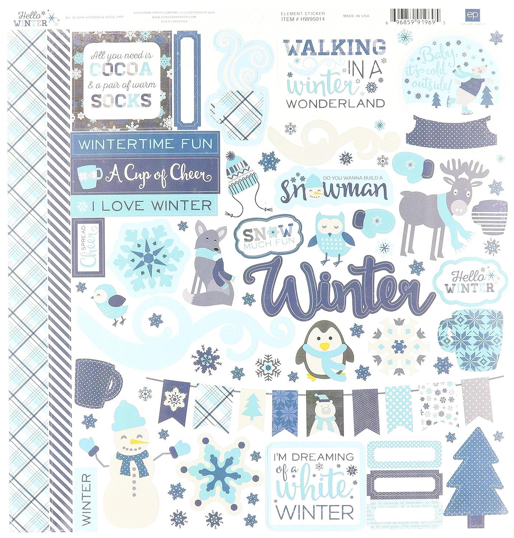 Echo Park Paper Company Hello Winter Collection Kit, 12 x 12 12 x 12 Echo Park Paper Co. HW95016