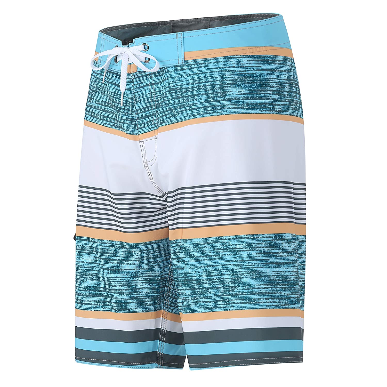 Yaluntalun Mens Swim Trunks Long Quick Dry Beach Board Shorts with Mesh Lining Beachwear