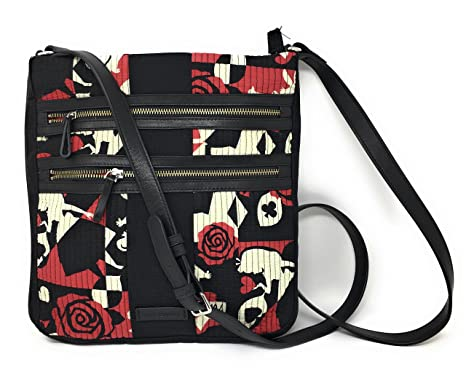 Vera Bradley Disney Parks Alice in Wonderland Hipster Crossbody Painting  the Roses 006b6633cbaa5