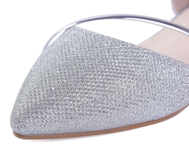 AgeeMi AgeeMi AgeeMi Schuhes Damen Ziehen auf Pailletten No-Heel Pumps Schuhe Silber(eud50) c2c231