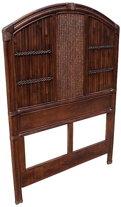 polynesian furniture. Hospitality Rattan 710-5276-ATQ Polynesian Headboard, Twin Furniture A