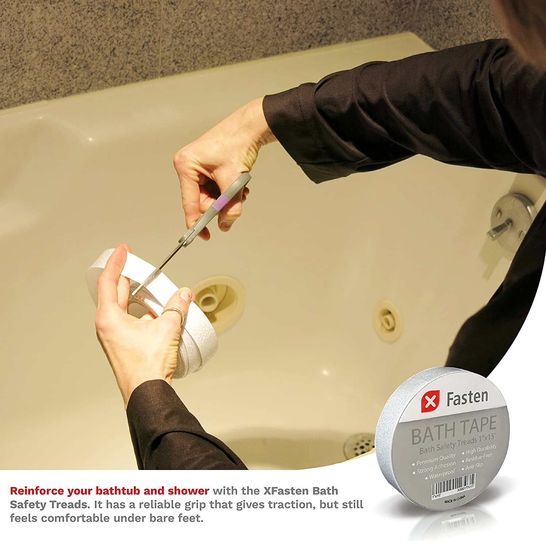 Amazon.com: XFasten Anti Slip Tape Bathtub and Shower Treads, 1-Inch ...