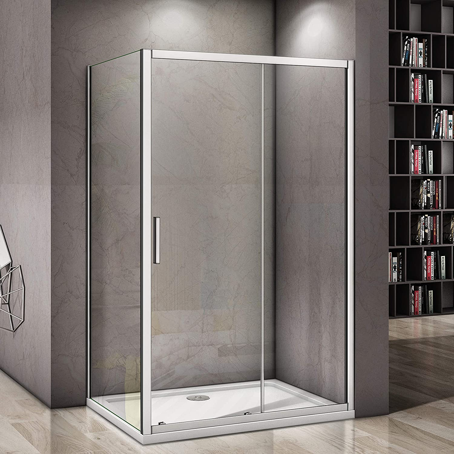 1100mm door+760mm side panel Perfect 1200x1850mm Sliding Door 6mm Safety Glass Screen Cubicle Shower Enclosure