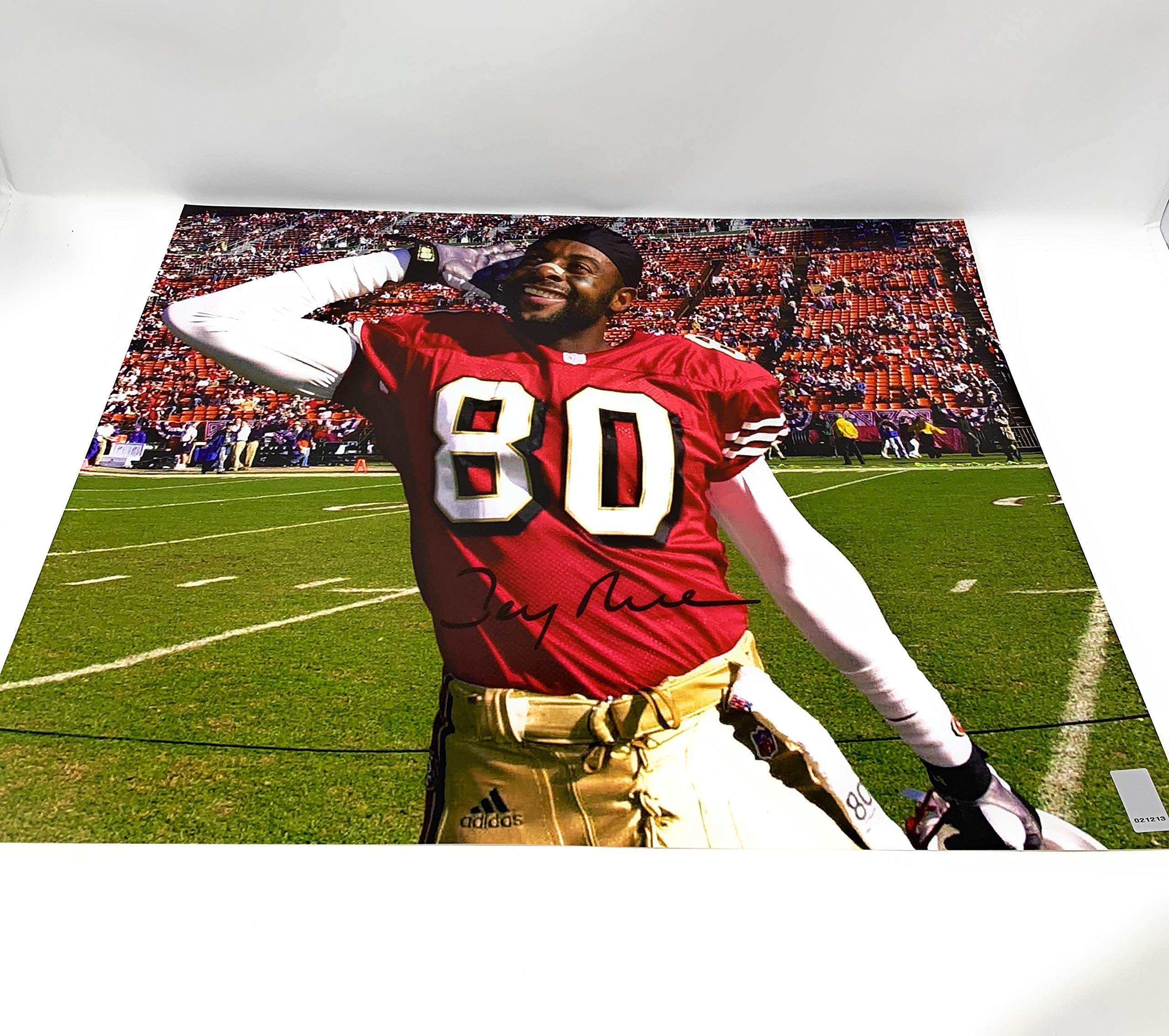 Jerry Rice San Francisco 49ers Signed Autograph 16x20 Photo Photograph Jerry Rice GTSM Player Hologram