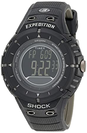 9aeb47f4d Image Unavailable. Image not available for. Color: Timex Men's T49928DH  Expedition Rugged Digital Compass Shock Black Resin ...
