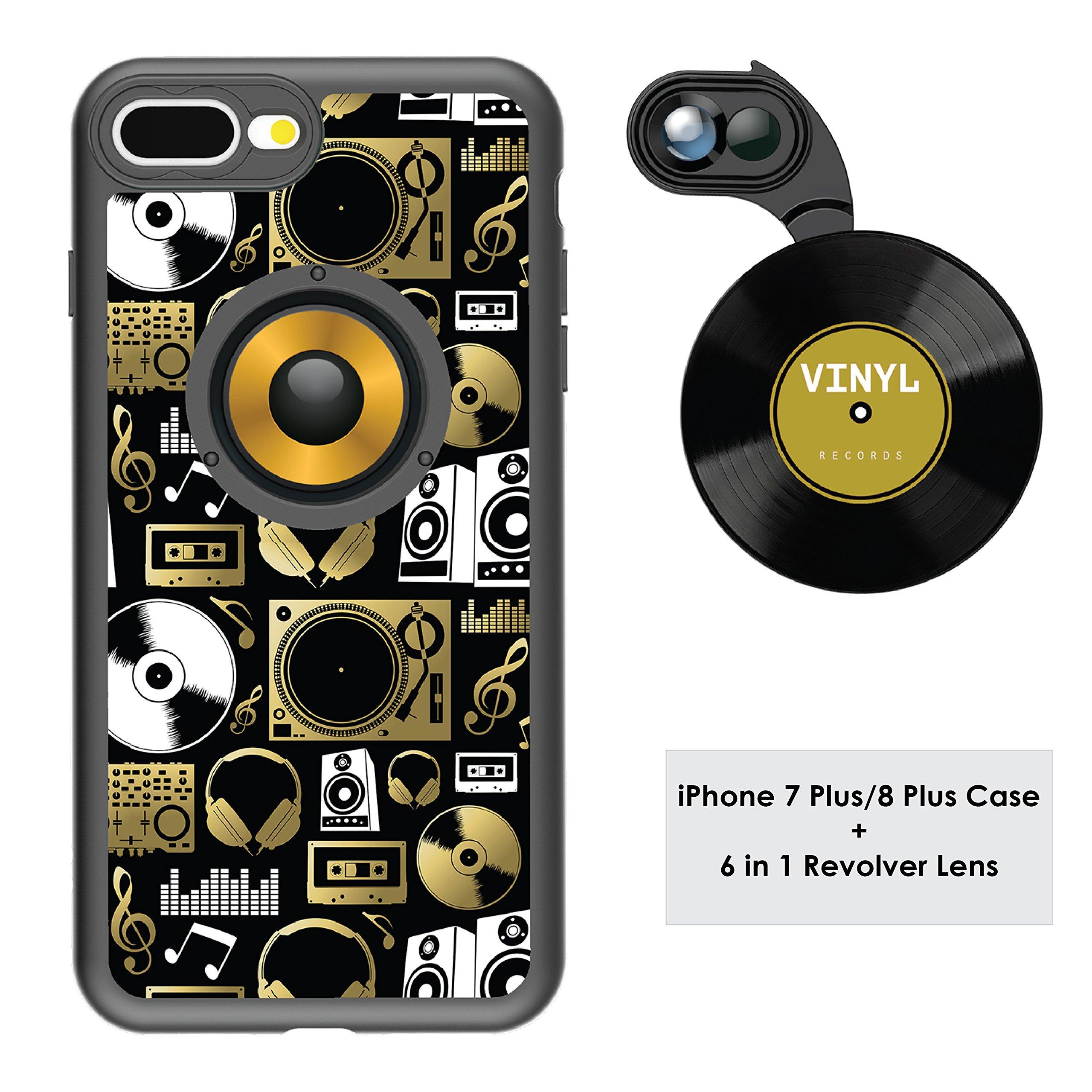 Funda y 6  Lentes Ztylus Revolver p/ iPhone 7/8 Plus - Au...