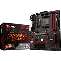 MSI B350 Gaming Plus AMD B350 Socket AM4 ATX Carte mère - Cartes mères (DDR4-SDRAM, DIMM, 1866,2133,2400,2667,2933,3200 MHz, Dual, 64 Go, AMD)