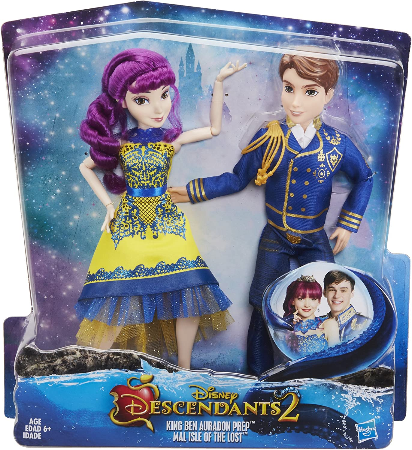 Disney Descendants Two-Pk Mal Isle of the Lost /& Ben Auradon Prep Dolls New 2014