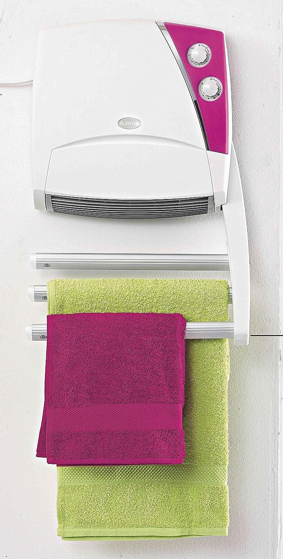 Supra SC4320 - Radiador eléctrico para toallas, 3 barras, 1000 W, color blanco y azul: Amazon.es: Hogar