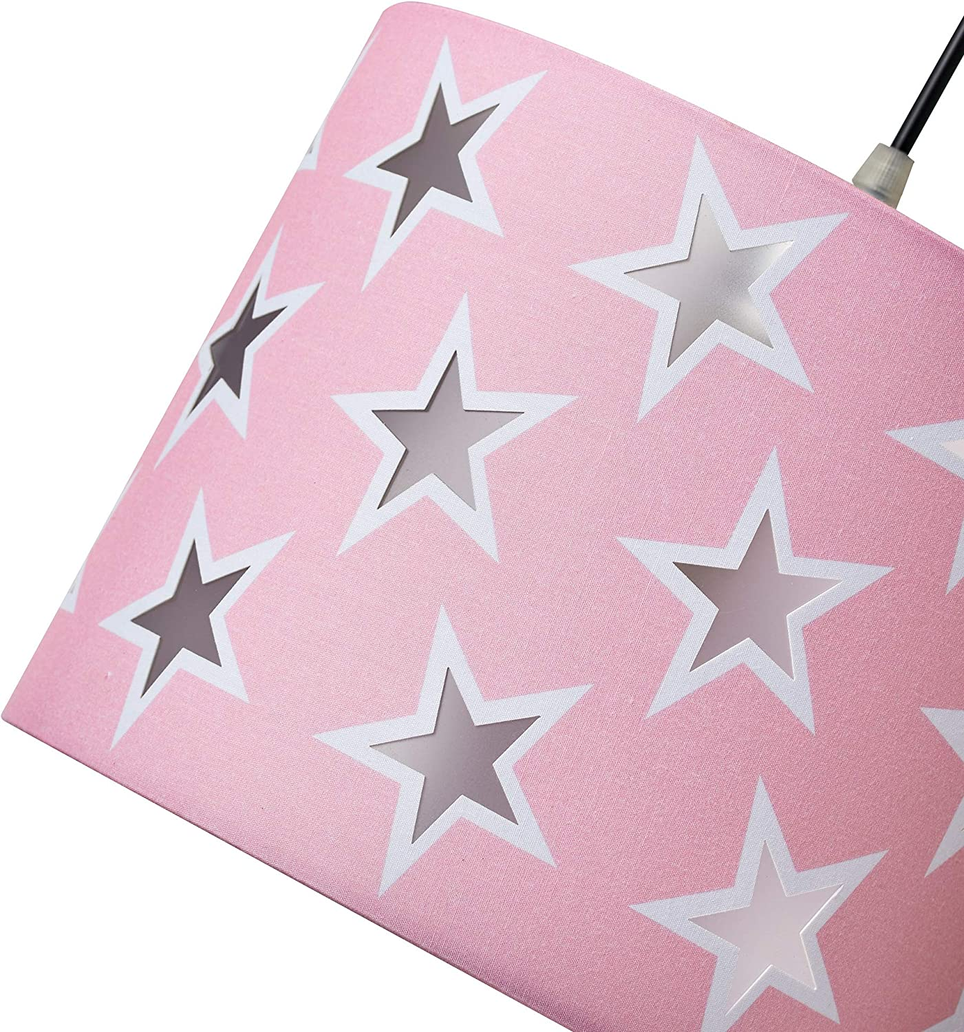 Diameter 25cm x Height 20cm Pink /& White Innoteck DS-1926 Creative Stars Decorated Children//Kids Multi-Functional Pendant //Desk //Floor Lamp Shade in Pink Twinkle Starts Diffusion Light Effect