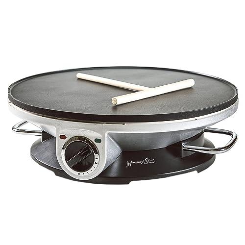 Morning Star - Crepe Maker Pro - Crepe Maker & Electric Griddle - Non-Stick Pancake Maker