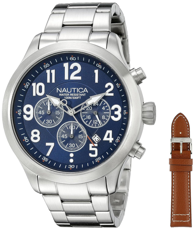 nautica watches amazon com nautica men s nad18509g ncc 01 chrono analog display quartz blue watch