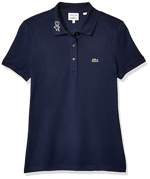 074f8405d Lacoste Women s S S Slim Fit Keith Haring Semi Fancy Polo at Amazon Women s  Clothing store
