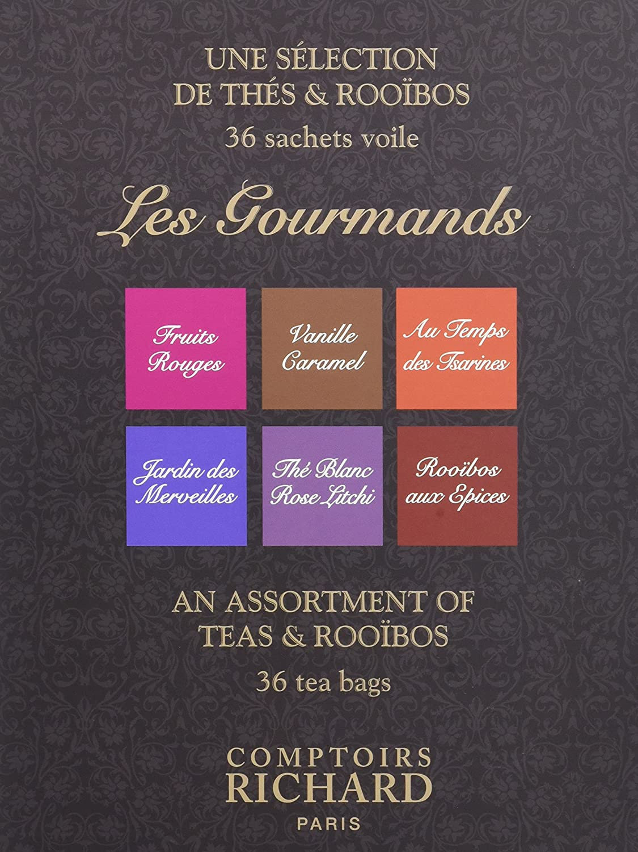Comptoirs Richard Coffret 36 Sachets Thes Les Gourmands 72 G Amazon