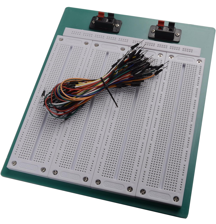 Chenbo 4 in1 700 Punto SYB-500 Tiepoint PCB sin soldadura protoboard + 65pcs Jumper alambre: Amazon.es: Electrónica