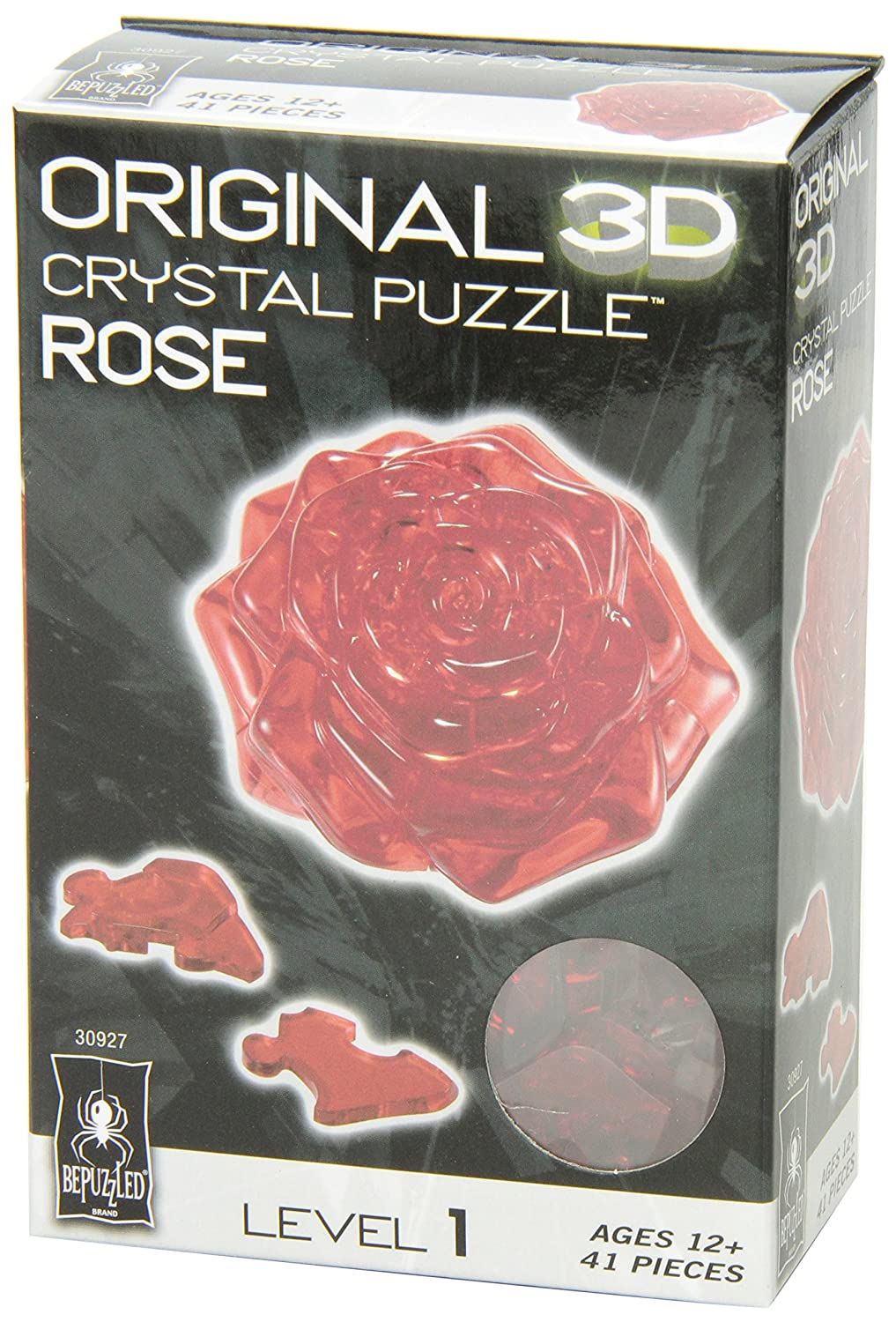Crystal Puzzle - Rose - Red University Games 30927