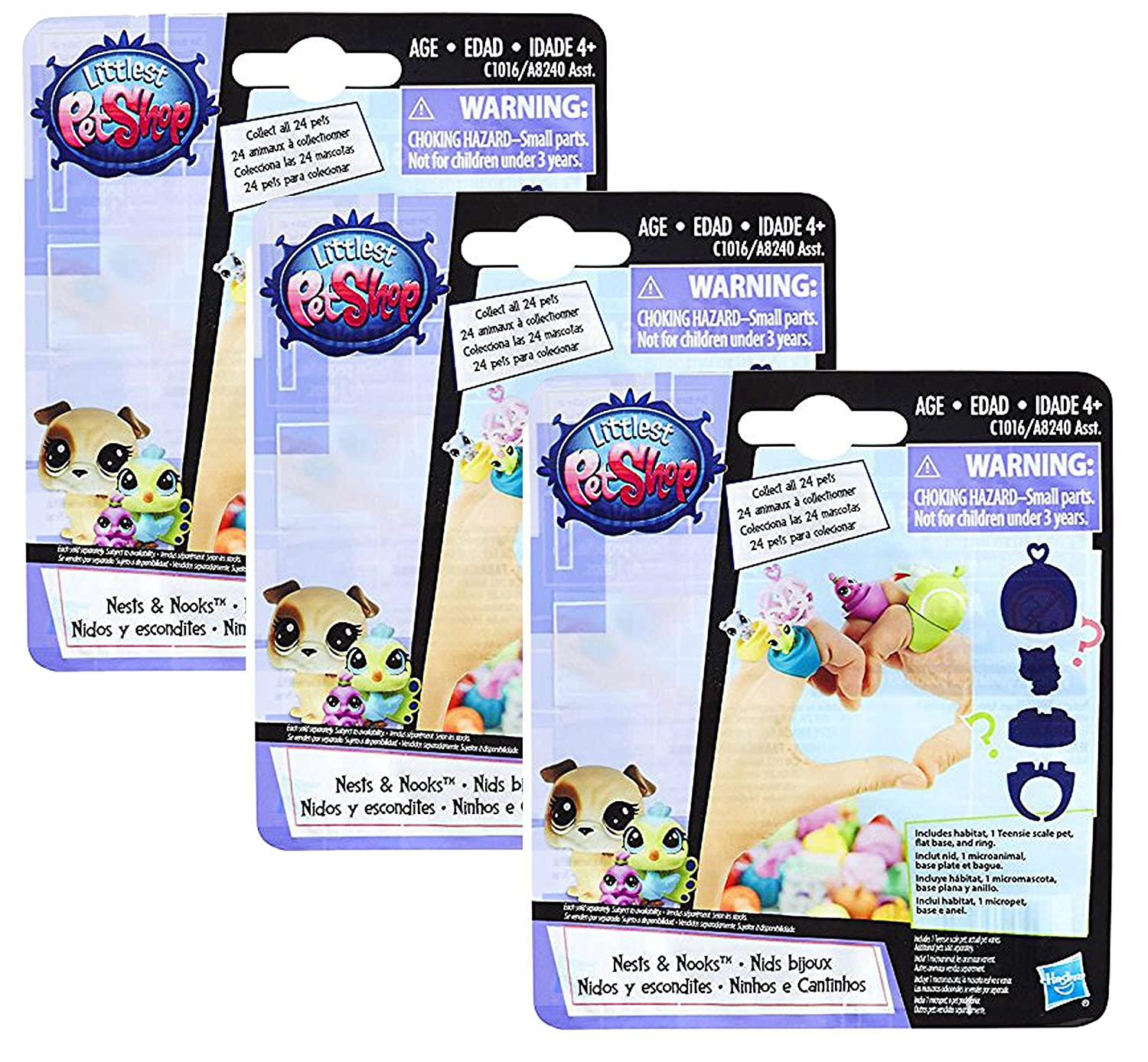 Littlest PetShop Pets Blind Bag 3 pack