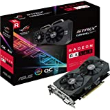 ASUS ROG Strix Radeon RX 560 16CU O4GB Gaming OC Edition GDDR5 DP HDMI DVI AMD Graphics Card (ROG-STRIX-RX560-O4G-GAMING)