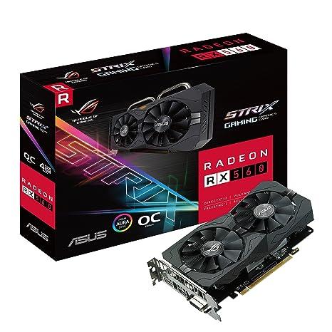 ASUS ROG-STRIX-RX560-O4G - Tarjeta gráfica (AMD, Radeon RX 560 ...