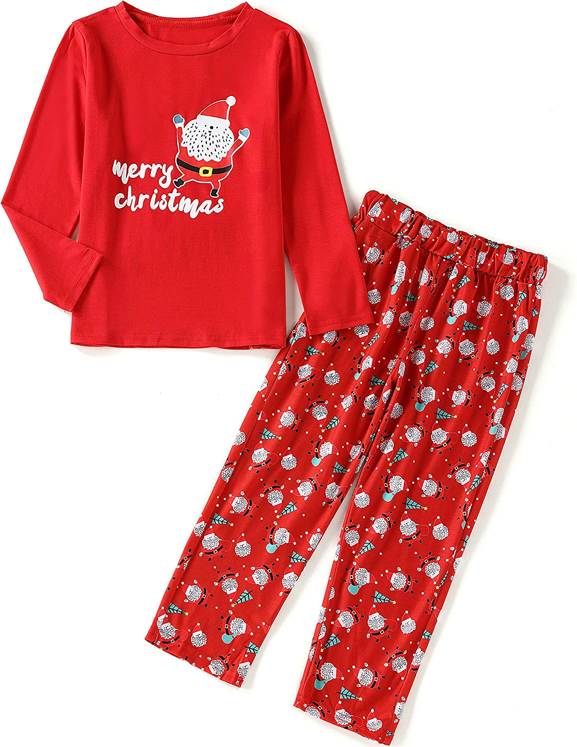kylin4835 Christmas Pajamas for Family X-Large Matching Family Pajamas Christmas Santa Claus Sleepwear for The Family Boys and Girls PJs Sets Red