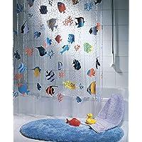 Playlearn - Cortina de ducha (plástico, 180 x