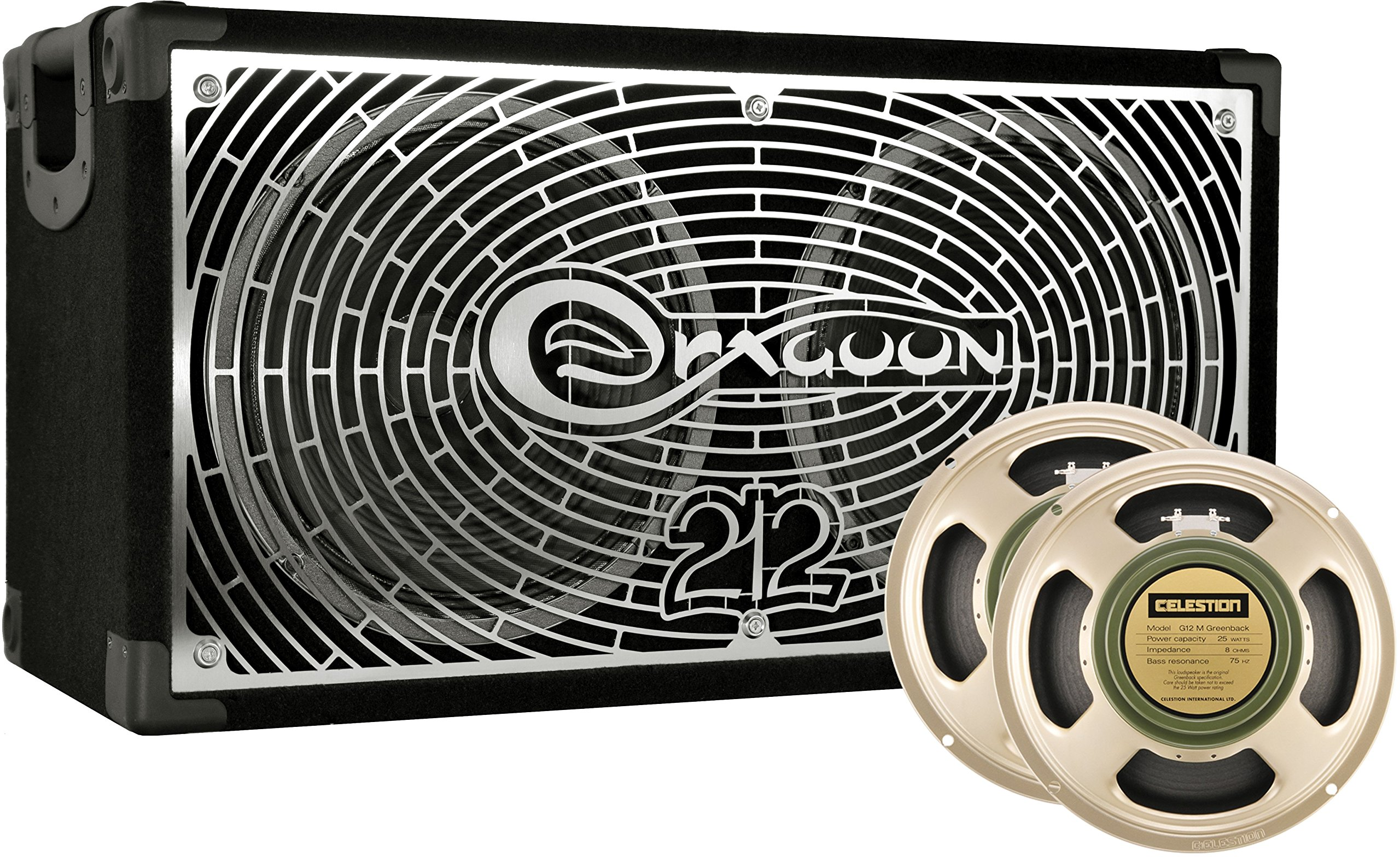 DRAGOON225C8M Handcrafted High Performance 2x12 Inches Guitar Speaker Cabinet with Celestion G12M ''Greenback''