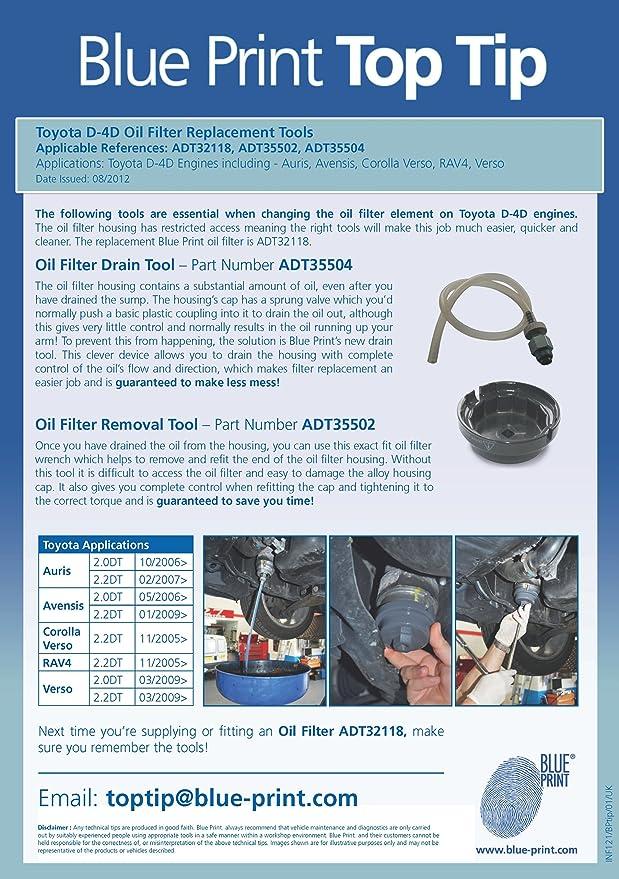 Blue Print Adt35504 Ölablassschlauch 1 Stück Auto