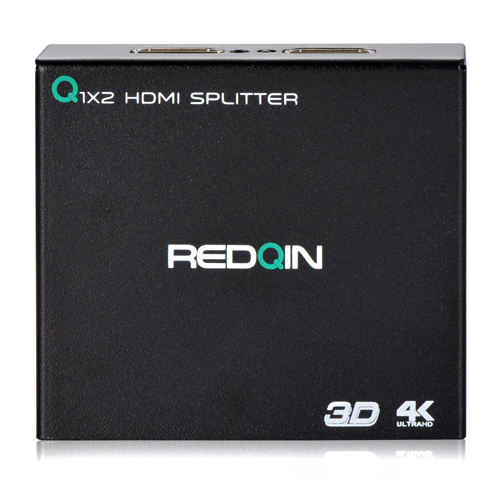 HDMI Splitter 1 in 2 out REDQIN HDMI V1.4 1x2 Splitter Amplifier with Full Ultra HD 4K 1080P 3D (1 HDMI to 2 HDMI)