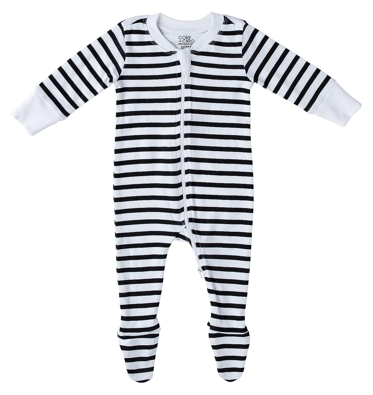 ee04bcf6f5 Amazon.com  Cole + Cleo Organic Baby Pajamas Footed Sleeper GOTS Certified Organic  Cotton  Clothing