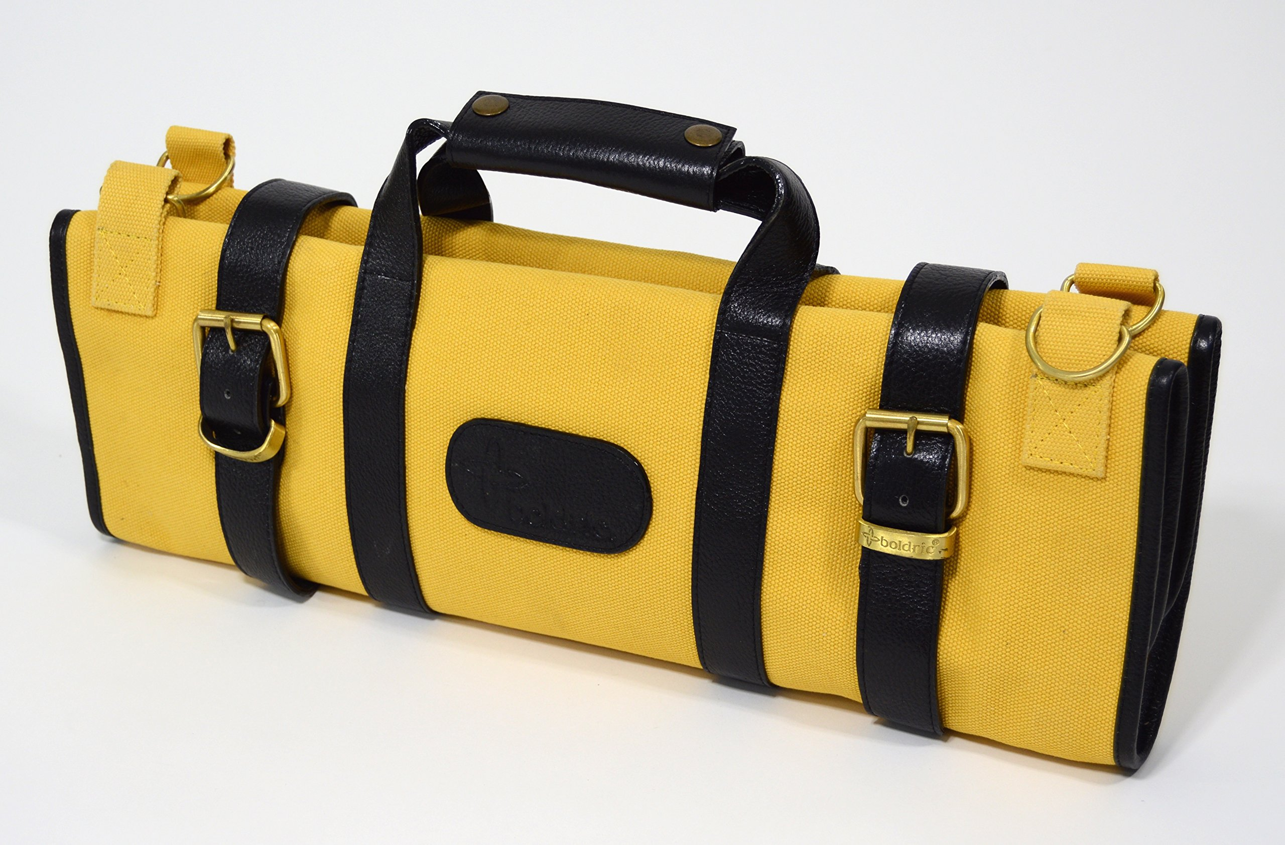 Boldric 17 Pocket Canvas Knife Bag Yellow by Boldric