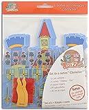 Téo & Zina KC04 Set de 6 Cartes D'invitation Anniversaire Chevalier Papier Multicolore 15x15x0.1 cm