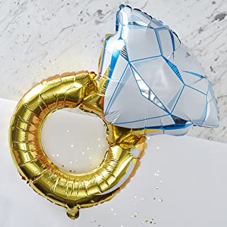 Ginger Ray Gold Foiled Large Hen Party Diamond Ring Balloon - 1 Balloon - I Do Crew