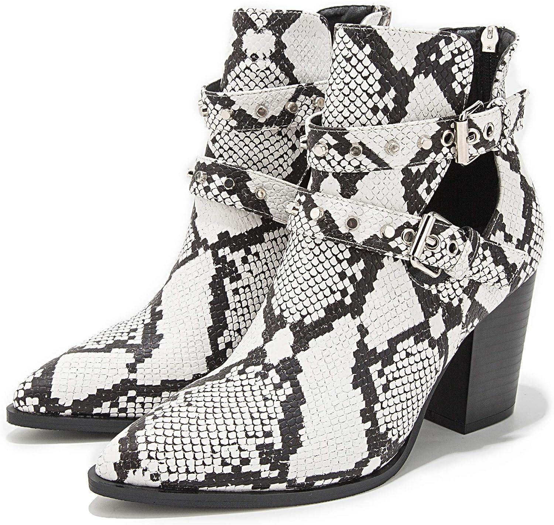 LALA IKAI Snakeskin Ankle Boots