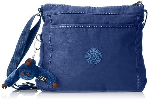 5d44c31f033528 Kipling Moyelle - Borse a tracolla Donna, Blau (Jazzy Blue), 7.5x26x21