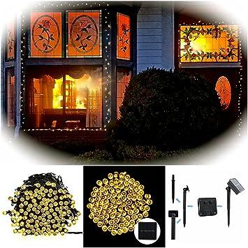 Outdoor Solar String Lights By FirstLights U2013 Christmas Patio Waterproof  Lights U2013 39 Feet U2013 100
