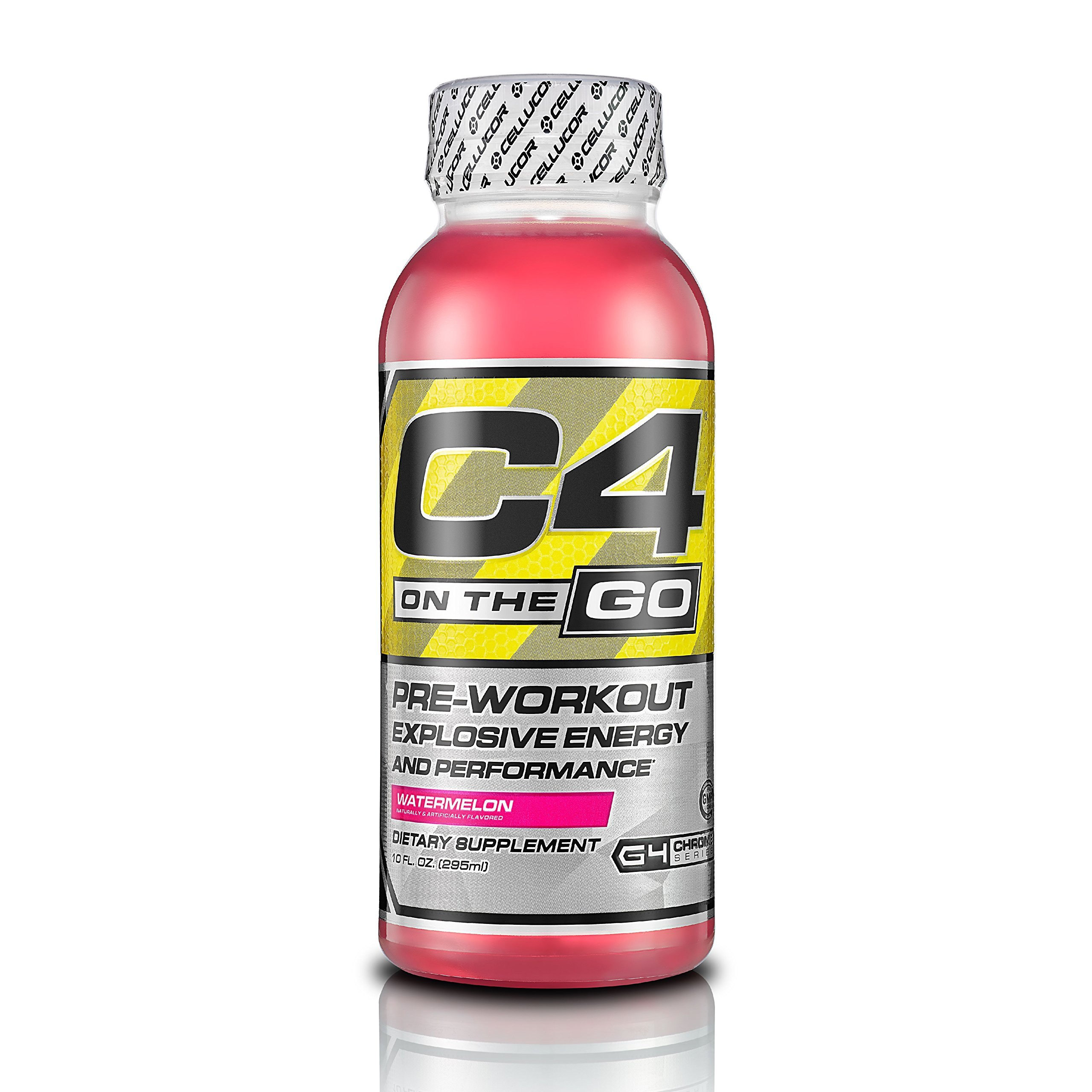 Cellucor C4 On The Go Pre Workout Energy Drink Supplements, Watermelon,10 FL.OZ, 12 Count