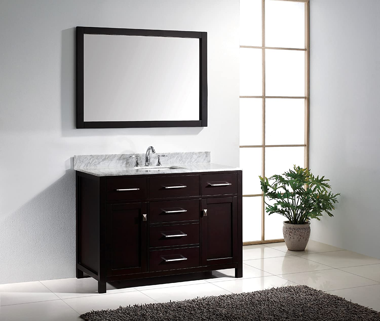 Virtu USA MS-2048-WMSQ-ES Caroline 48-Inch Bathroom Vanity with ...