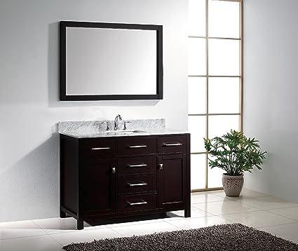 Virtu USA MS 2048 WMSQ ES Caroline 48 Inch Bathroom Vanity With
