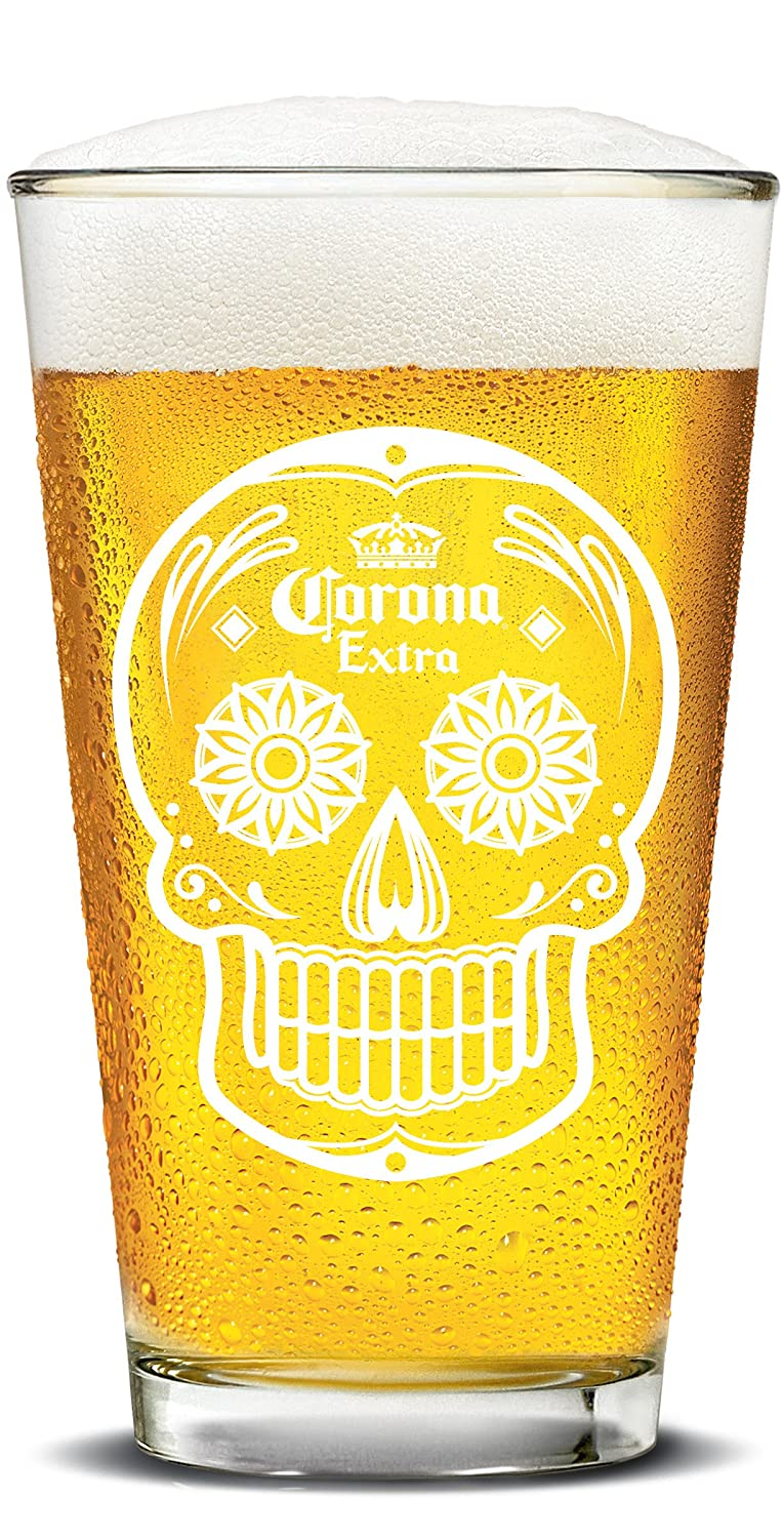 Luminarc 4 Piece Arc International Corona Day of The Dead Pubs Glasses Set, 16 oz, Clear L8449