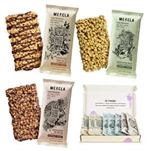 Mezcla Vegan Plant Protein Bars - Variety Pack: Gluten-Free, Non-GMO, Soy Free, 10G of Protein [8-Pack]